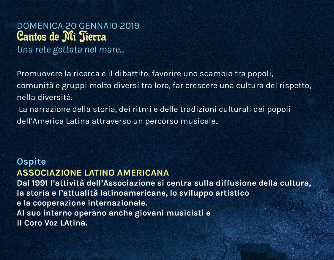 Cantos de Mi Tierra – domenica 20 gennaio 2019