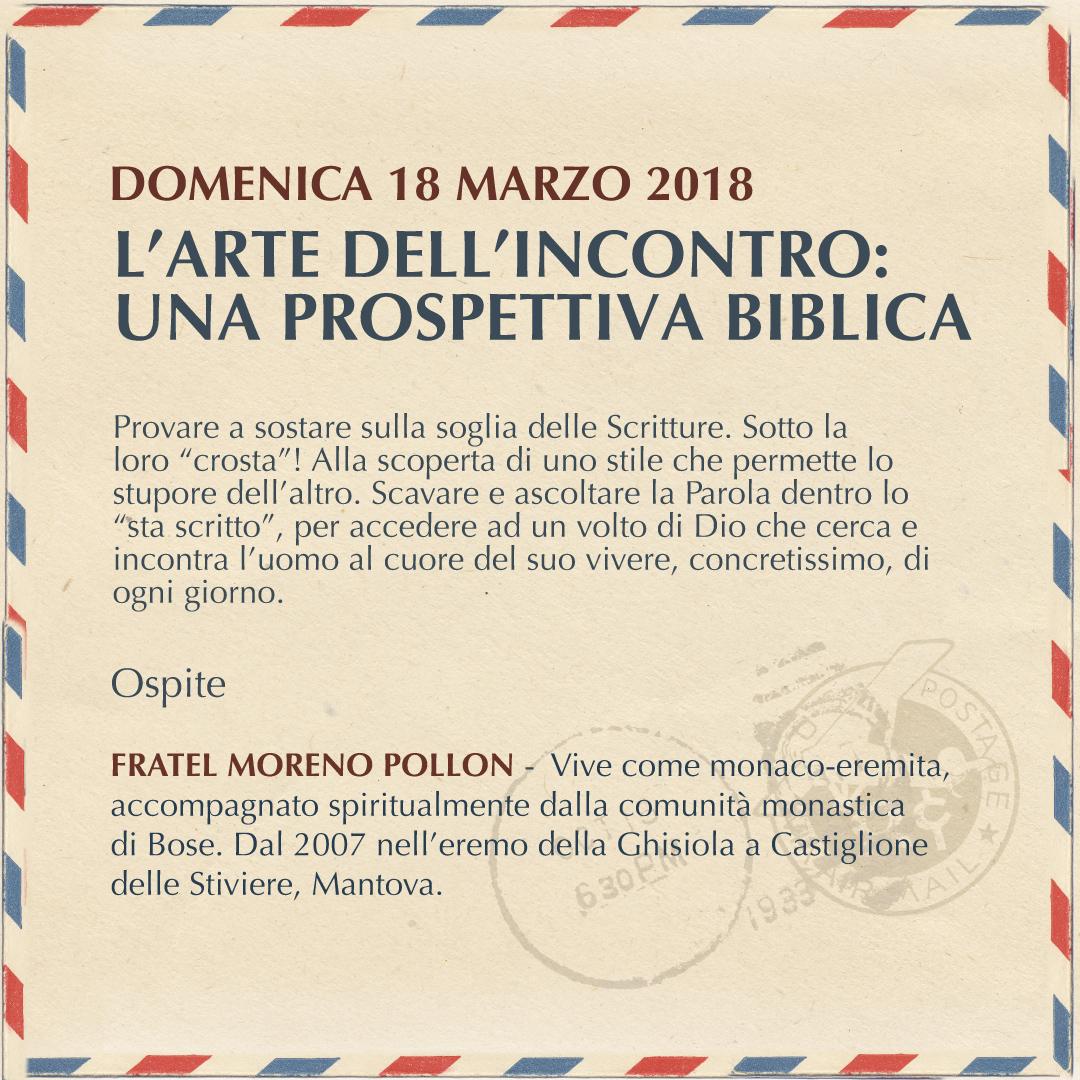 L'ARTE DELL'INCONTRO: UNA PROSPETTIVA BIBLICA
